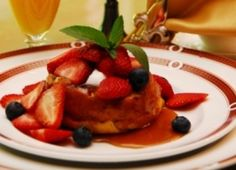 Crème Caramel French Toast | BBOnline Recipes | The Fleur-De-Lys Mansion in St. Louis, MO