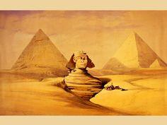 Giza Sfinga original painting by David Roberts