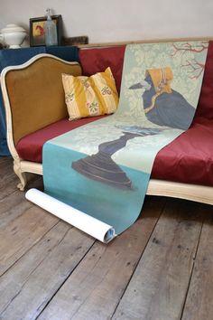 L'univers poétique de Sandrine Chambéry | Madame Décore Charming House, Decoration Originale, Decoration Design, Floor Chair, Throw Pillows, Flooring, Madame, Bed, Houses