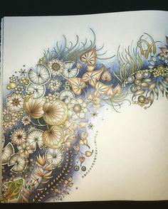 #大人の塗り絵 #coloriage #coloring #ひみつの花園 #secretgarden