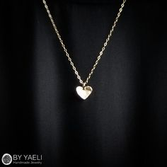 Hey, I found this really awesome Etsy listing at https://www.etsy.com/il-en/listing/398072983/gold-necklace-tiny-heart-necklace-love