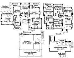 Two story floor plan