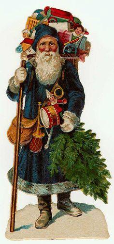 Vintage printable Santa Claus