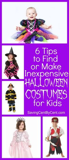 6 Tips to Find or Make Inexpensive Halloween Costumes for Kids – Saving Cent by Cent - Kids halloween Inexpensive Halloween Costumes, Halloween Decorations For Kids, Halloween Porch, Halloween Masks, Halloween Costumes For Kids, Diy Costumes, Halloween Treats, Best Money Saving Tips, Saving Money