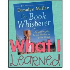 The Book Whisperer is a great book to check out if you are wanting to increase your kiddo's reading engagement, stamina, and level! :)