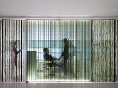 half transparent wall