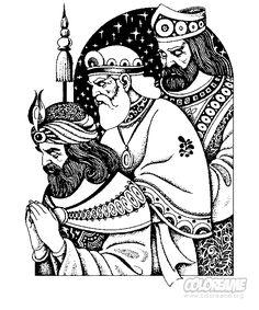 BAÚL DE NAVIDAD: Adoración Reyes Magos para colorear (2)