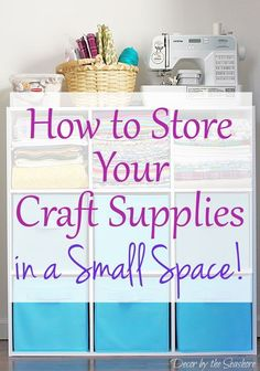 Need help organizing and storing your craft supplies in a small space? Check out these helpful craft storage tips and. Sewing Room Organization, Craft Room Storage, Diy Storage, Organization Ideas, Tool Storage, Fabric Storage, Storage Cubes, Storage Hacks, Storage Shelves
