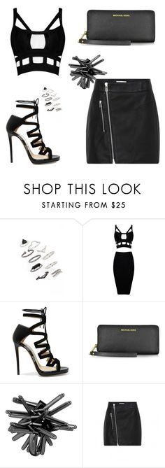 """""""Untitled #1743"""" by cdbinwv ❤ liked on Polyvore featuring Topshop, Jimmy Choo, Michael Kors and French Connection"""