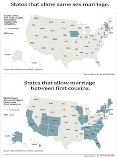 What?  First cousins can't marry in West Virginia?!?!?