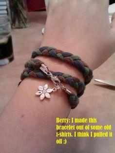 DIY t-shirt bracelet.