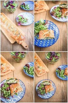 rolada z wędzonym łososiem i szpinakiem Quiche, Calzone, Finger Foods, Avocado Toast, Food And Drink, Healthy Eating, Cooking, Breakfast, Ethnic Recipes