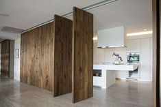 Pareti divisorie mobili - Parete mobile listone legno