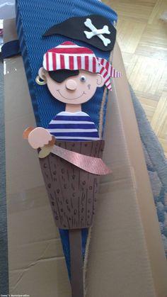 schultüte junge | Schultüten Bastelset Pirat individualisierbar - Bild vergrößern