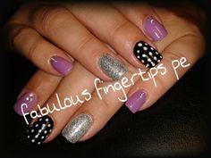 Lavender Black n White set