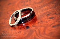 Wedding rings close up by BobGantchev