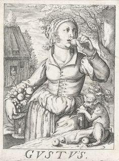 """""""Gustus"""" by Hendrick Hondius (I), 1583-1650"""