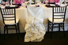 Wedding dress chair cover for bridal shower or rehearsal dinner ! Love love love this idea !