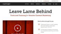 Clean responsive web design: http://www.copyblogger.com/
