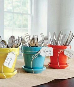 Outdoor cutlery holder