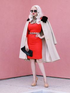 """- Outfit of the day -   """" Jungle Red """"     This week's outfits touch on an early 60s Mod theme, with a shorter hemline seen in the 60s, and..."""
