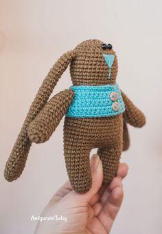 Crochet bunny in vest - free amigurumi pattern