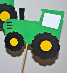 John Deere Green Tractor Farm themed Birthday Party Table Toppers/ Table Centerpiece set (3)