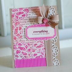 Another beautiful card by Betsy Veldman - neat effect heat embossing the outlined image of the flower