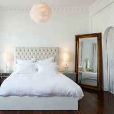 beautiful full length mirror in bedroom | {living} | Pinterest