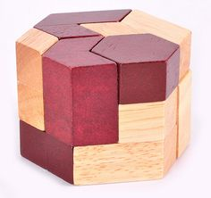 Geometric Shape IQ Wooden Brain Teaser Puzzle Game for Adults Children