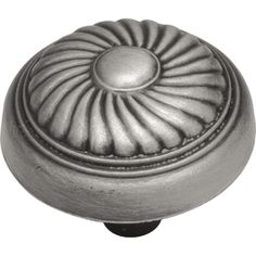 Hickory Hardware 1.25-in Satin-Pewter Antique French Country Round Cabinet Knob