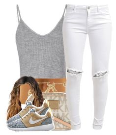 """6/2/16"" by yasnikki ❤ liked on Polyvore featuring Glamorous, MICHAEL Michael Kors, NIKE and FiveUnits"