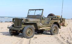World War II Jeep at the beach