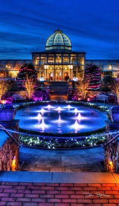 The Lewis Ginter Botanical Garden, Henrico, VA. Almost just around the corner...and check it out at night!