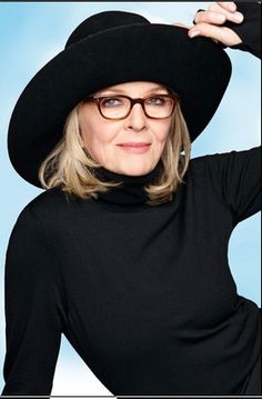 One of my all-time style faves: Diane Keaton. AND she's a hat lover, just like me!