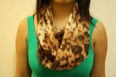 Infinity scarf in leopard print by PaulaMadeIt on Etsy, $4.00