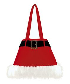 This Red Belted Santa Tote is perfect! Christmas Crafts For Gifts, Christmas Bags, Merry Christmas, Red Belt, Merry And Bright, Valentino, Santa, Tote Bag, Cotton