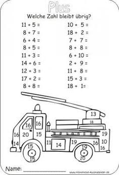 Vier-Tage-Mathe-Training (Zahlenraum bis 20) - | 1.oszt | Pinterest ...
