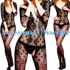 NEW Black XS-5XL Sexy Fishnet Body Stocking Nightwear Lingerie Love Sex Toys#422