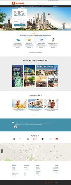 Travel Insurance Company WordPress Theme #51127