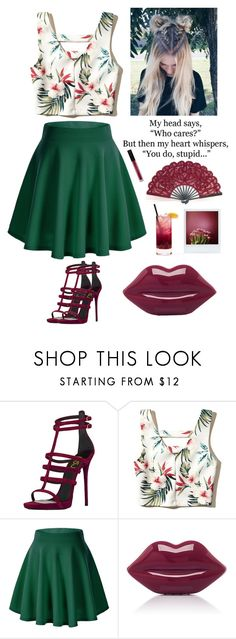 """#377"" by mildabas ❤ liked on Polyvore featuring Hollister Co., Lulu Guinness and Huda Beauty"