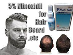 5% MINOXIDIL FACIAL HAIR GROWTH SERUM GROW MUSTACHE BEARD SIDEBURNS EYEBROWS #Reten5