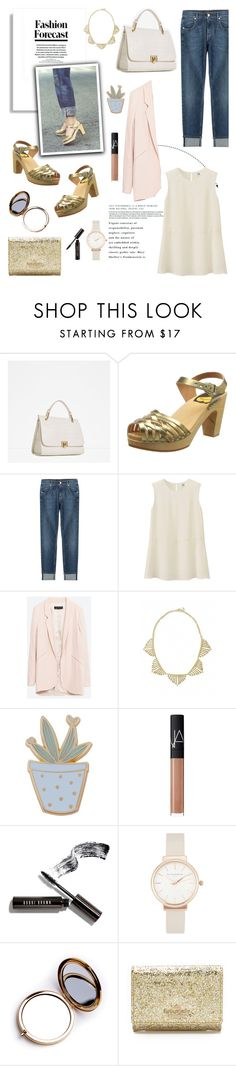 """""""Swedish Hasbeens and Jeans..."""" by glamorous09 ❤ liked on Polyvore featuring Zara, Swedish Hasbeens, 7 For All Mankind, Uniqlo, Towne & Reese, Des Petits Hauts, NARS Cosmetics, Bobbi Brown Cosmetics, Olivia Burton and Odeme"""
