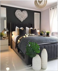 Home Decor Bedroom .Home Decor Bedroom Stylish Bedroom, Modern Bedroom, Cozy Bedroom, Master Bedroom Interior, Interior Livingroom, Modern Wall, Room Ideas Bedroom, Bedroom Designs, Adult Bedroom Ideas