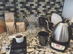 Home is where the coffee is? ;-) Excited to try the @fourbarrelcoffee offerings I picked up in my travels! Slept til noon. Now ready to ROCK...the laundry with my wife. #adulting #coffeefirst #whereismyson #coffee #pourover #chemex #hario #bonavita #juliska http://ift.tt/20b7VYo