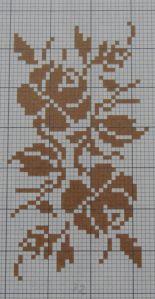 Cross Stitch Borders, Cross Stitch Rose, Cross Stitch Flowers, Cross Stitch Patterns, Thread Crochet, Crochet Stitches, Crochet Girls Dress Pattern, Crochet Placemats, Pixel Crochet