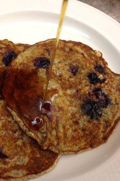 blueberry flax pancakes  from www.bakedinnovascotia.com