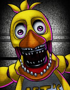 how to draw withered chica the chicken