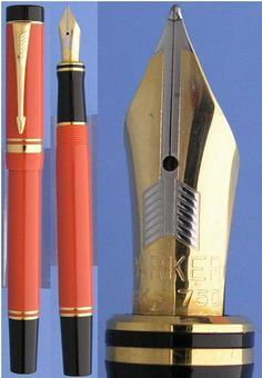 Parker duofold Orange fountain pen  #sundays #menswear