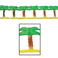 Palm Tree Garland - PartyCheap